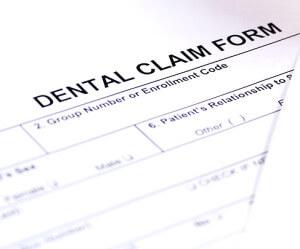 image of dental insurance claim form